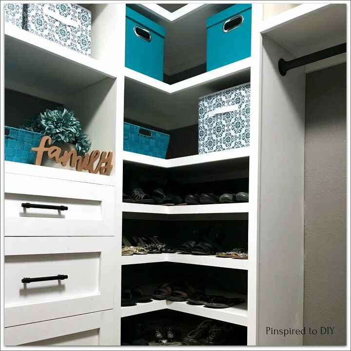 diy closet organizer built in storage