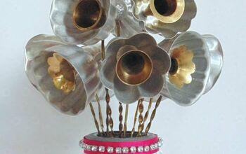 Repurposed Jello Mold Flowers Bouquet