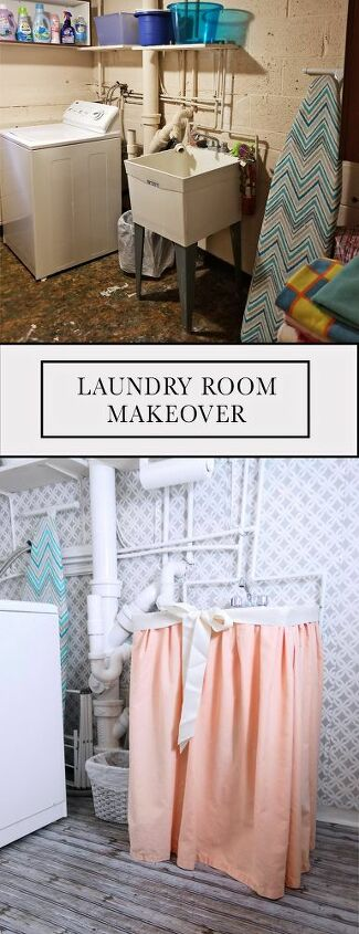 laundry room makeover on a super tight budget