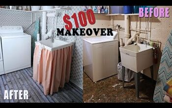 Laundry Room Makeover on a Super Tight Budget!