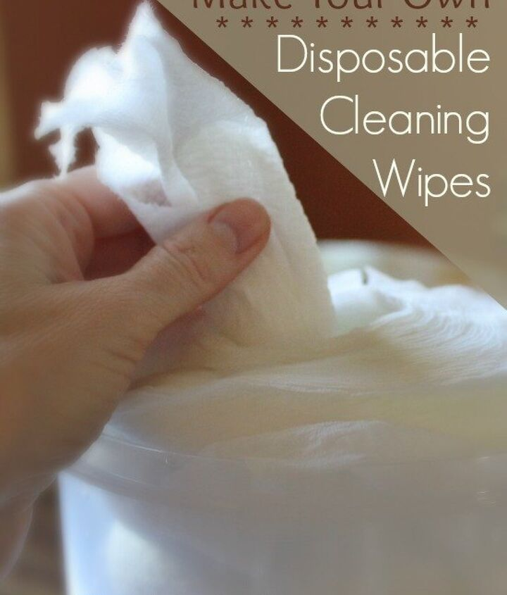 how to homemake disposable cleaning wipes