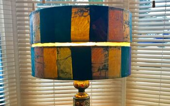 Learn How to Do a Lampshade Restyle Using Old Batik Fabric Decoupage!