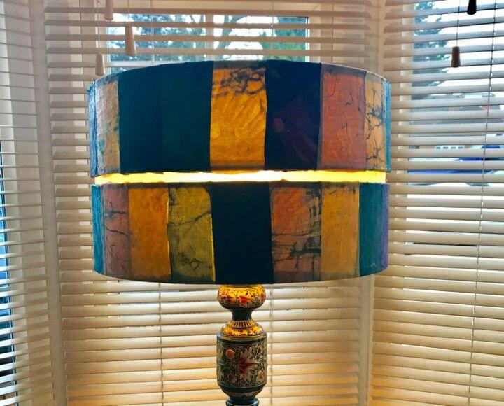 Fabulous Batik Lampshade restyle decoupage