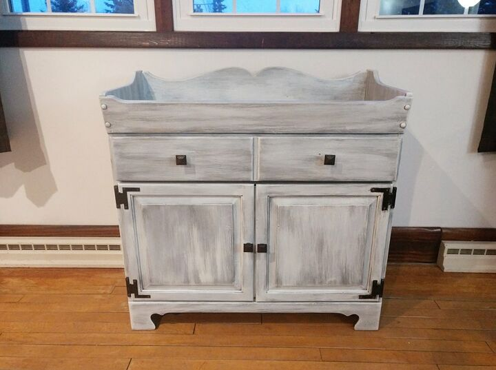 repurposed antique dry sink
