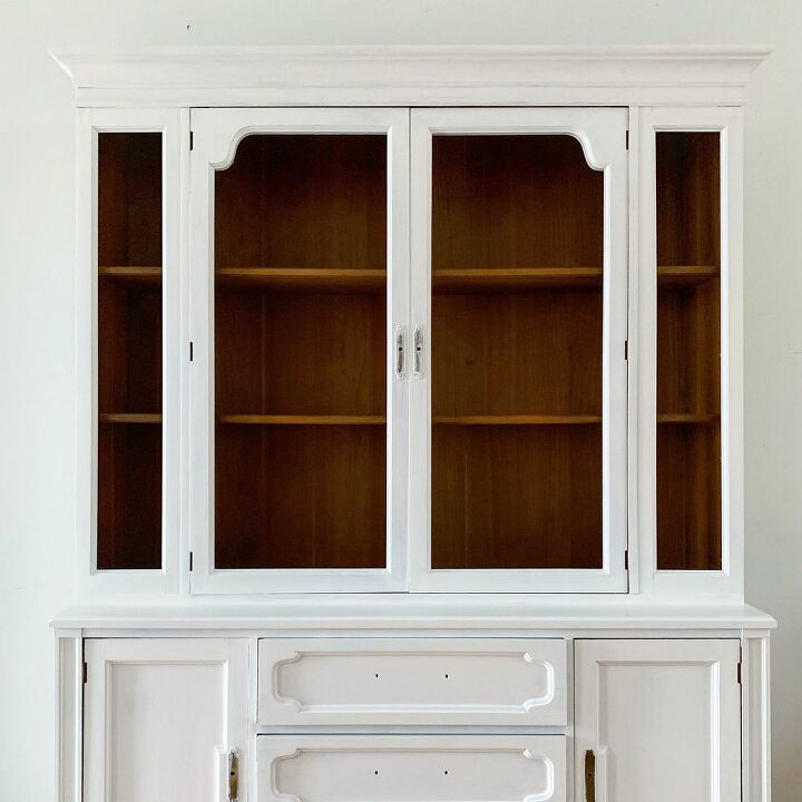 The China Hutch in the makeover process.