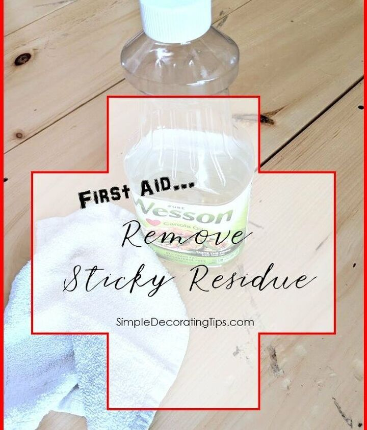 first aid remove sticky residue
