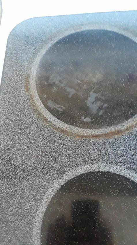 q how do i get plastic off a glass top stove burner