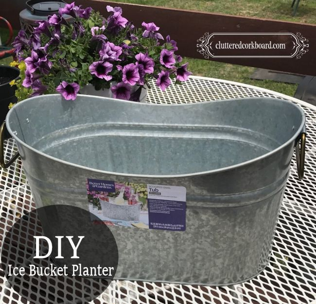 galvanized tub turned diy planter for the garden