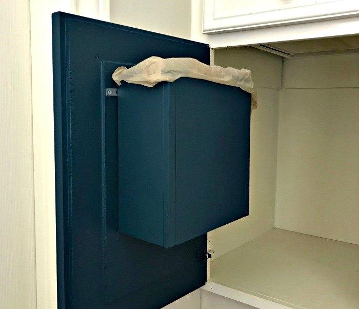 how to build a bathroom cabinet door garbage can