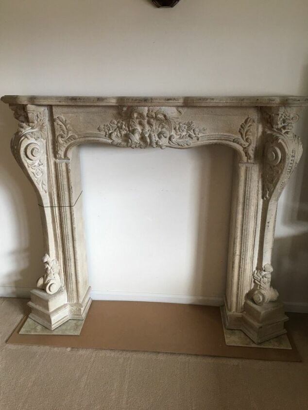 q paint a stone fireplace
