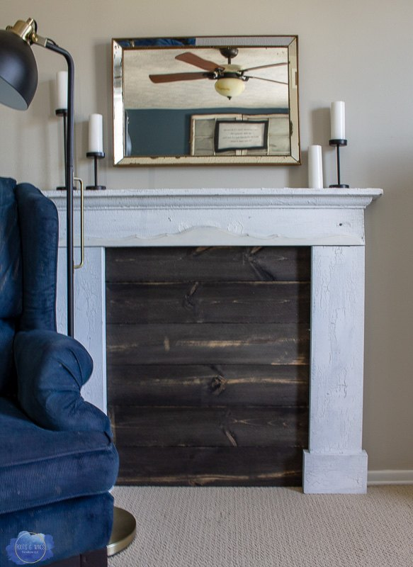 Add stained pine for additional interest!