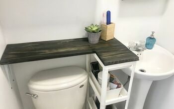 A Brilliant Solution for Small Bathrooms With No Counter Space!