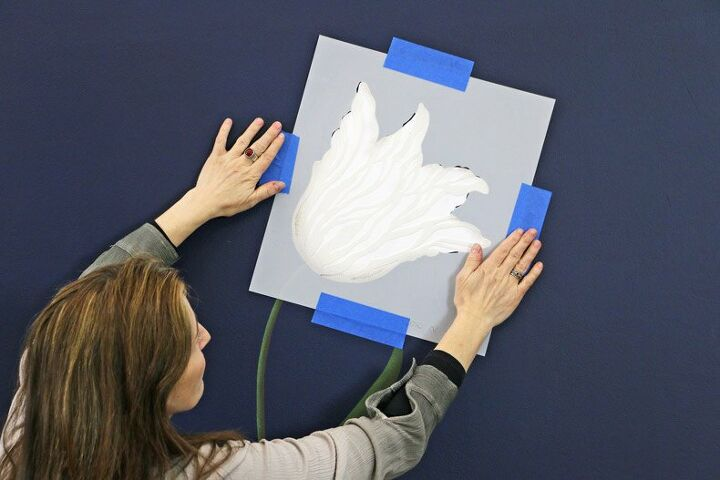how to stencil a 3d flower in 5 easy steps
