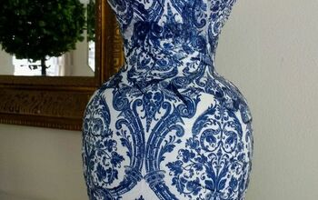 Napkin Decoupage Vases, Blue and White Chinoiserie Vase DIY Craft Idea