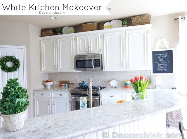 White Kitchen Makeover (DecorChic!)