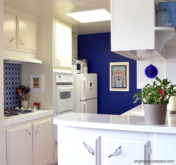Pop of Color Kitchen Makeover (Engineer Your Space)