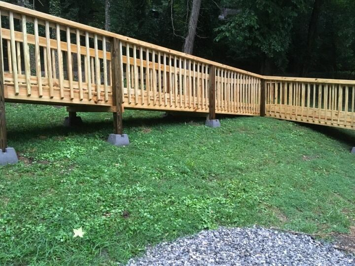q is there an easy way to stain a large deck and 30 foot wheelchair ramp