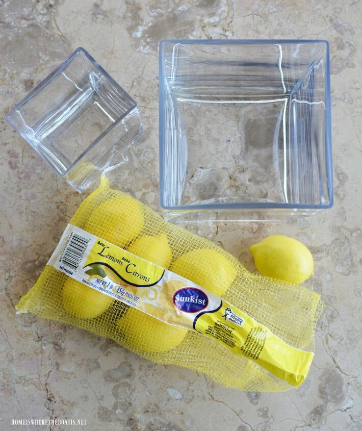 create a sunny lemon vase flower arrangement