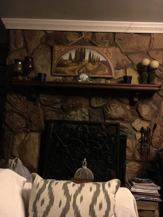 q how do i update an old stone fireplace