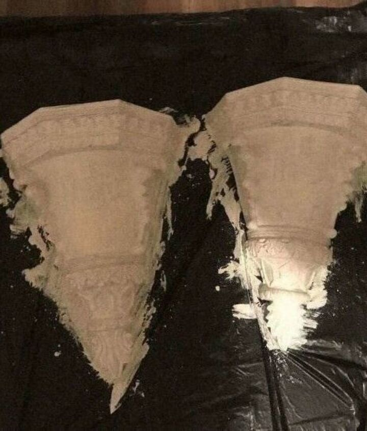 wall sconce update using salt wash paint