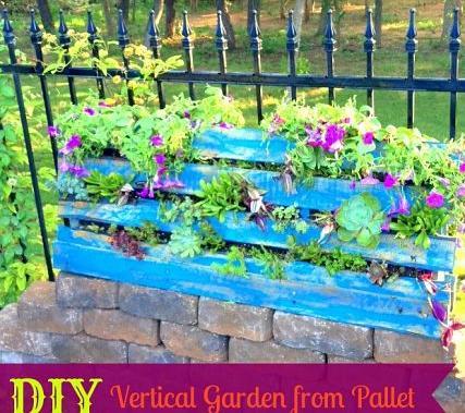 s 14 creative ways to plant a vertical garden maximize space, Create a Backdrop of Hanging Pots Using a Vertical Pallet Garden