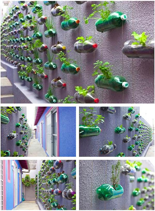 s 14 creative ways to plant a vertical garden maximize space, Create a Striking Vertical Garden out of Plastic Bottles