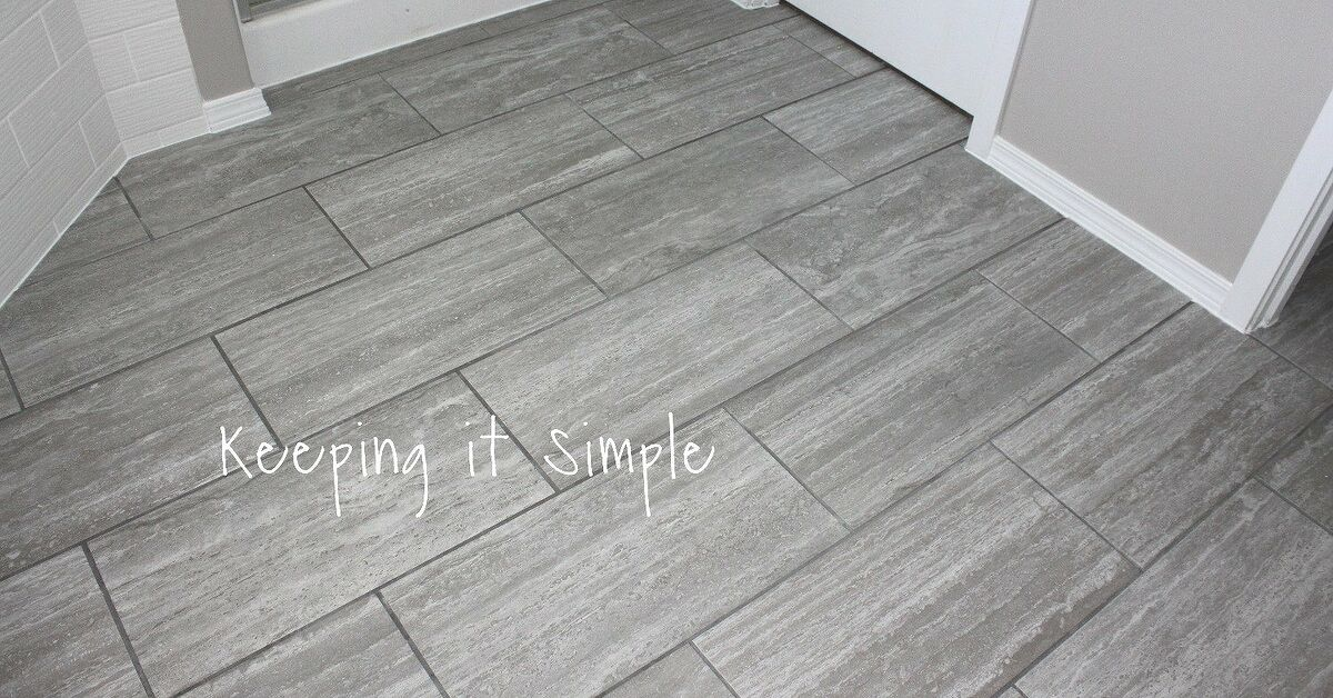 14 Stylish Bathroom Floor Tile Ideas For Small Bathrooms | Hometalk