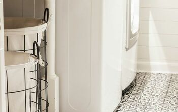 DIY Stencil Painted Tile Floors