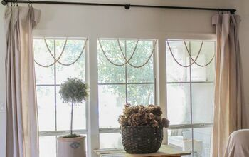 DIY Woodbead Window Garland