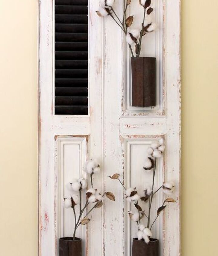 s 12 gorgeous ways to add character to your home with diy farmhouse deco, Stylish Farmhouse Decor Shutters
