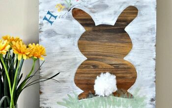 How To Make an Easy Easter Bunny Sign That Will Make You Smile