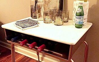 Makeover an Old School Desk Into a Modern Mini Bar
