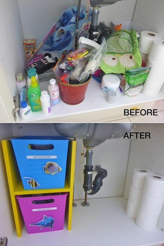 diy bathroom vanity storage