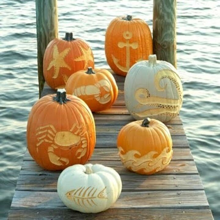 Cute Pumpkin Carvings (Maya @ Completely Coastal)