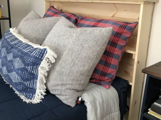 my tongue and groove bookcase headboard