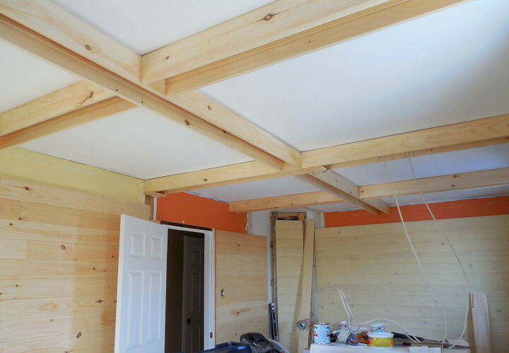 coffered ceiling for bedroom conversion