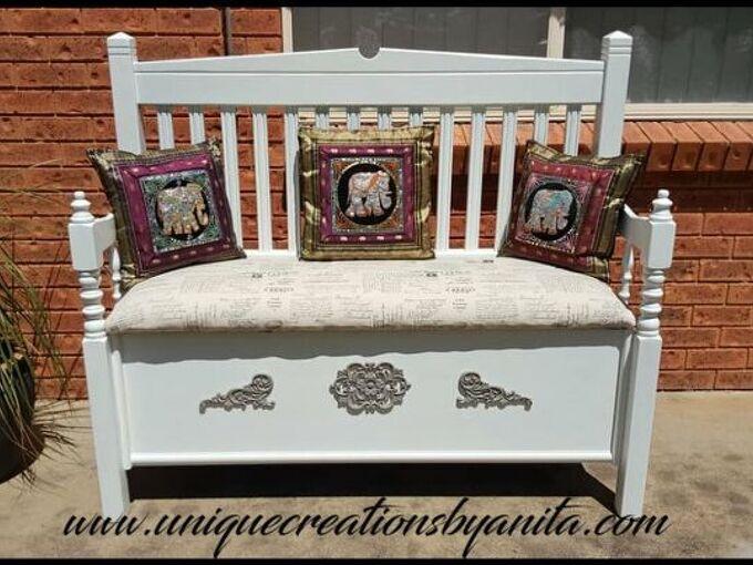 headboard bench with storage, Headboard Bench With Storage