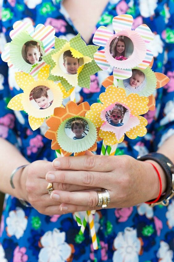 mother s day gifts from kids paper flower bouquet