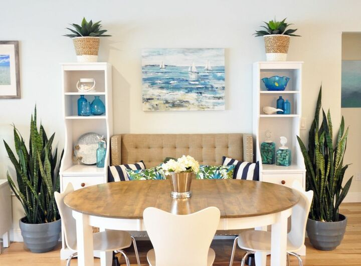 upcycling diy built in banquet shelving