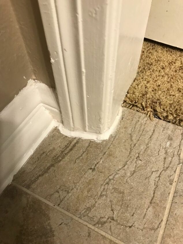 q how do i repair caulk between the floor tile and the baseboard