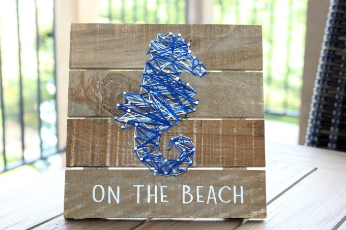 how to make a diy string art wooden plaque