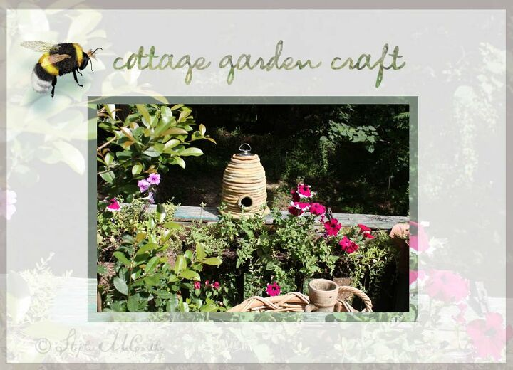 make a clay bee skep for a cottage style garden
