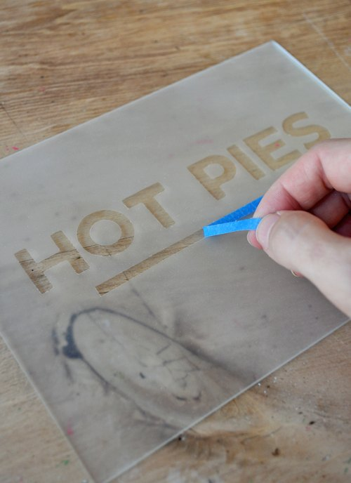 how to make a vintage style frosted glass sign