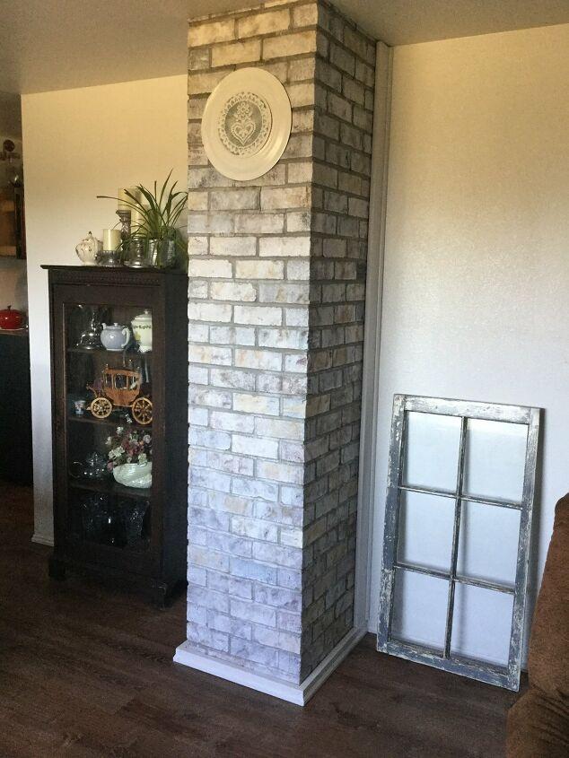 s whitewash furniture, Whitewashed Brick Chimney