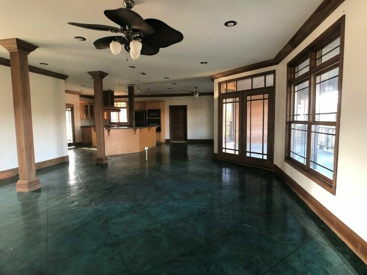 Q How To Redo Painted Stained Concrete Flooring