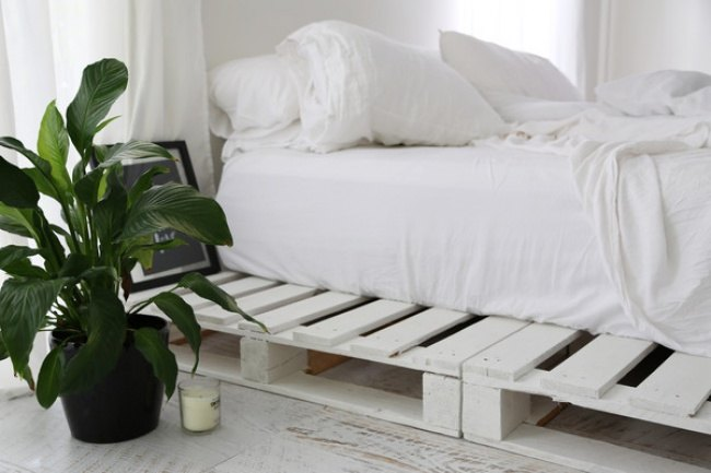 s 13 diy bed frame projects, DIY Wooden Bed Frames Using Healthy Pallets