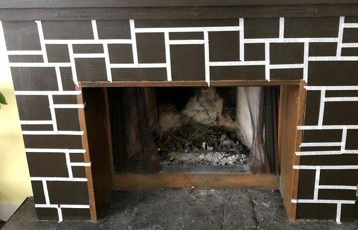 fireplace faux stone