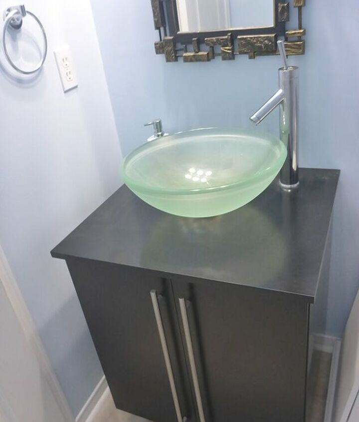 This is the vanity I replaced it with