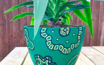 Gorgeous Green Plantpot Makeover