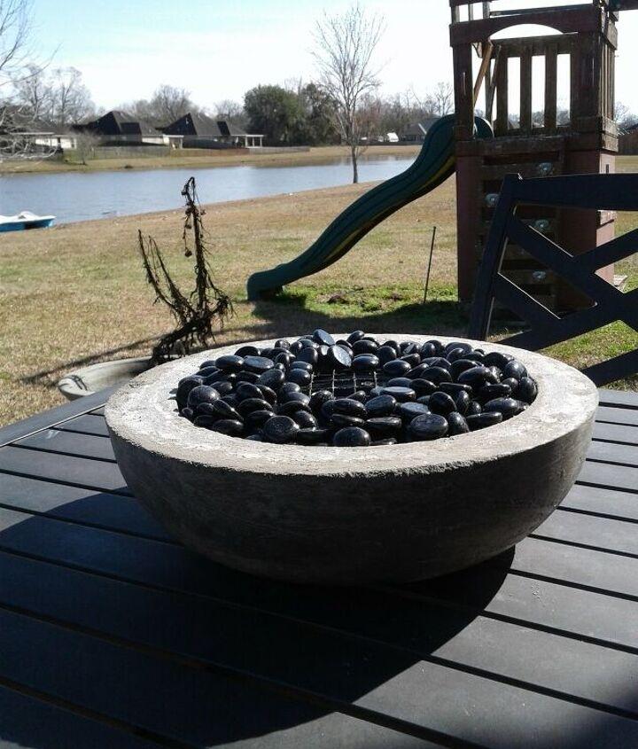 s fire pit ideas, A Crafty Concrete Fire Pit